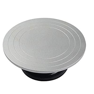 12 Inch Diameter Heavy Duty Metal Pottery Decorating Banding Wheel  detail review