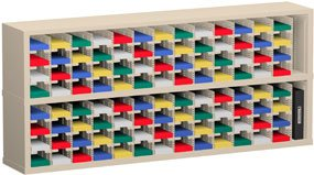Charnstrom 72 Width x 12.75 Depth Inches 104 Pockets 5-Inch Wide Mail Sorters (PH13) by Charnstrom