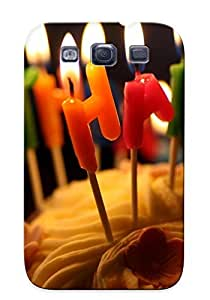 Christmas Day's Gift- New Arrival Cover Case With Nice Design For Galaxy S3- Birthday Cake