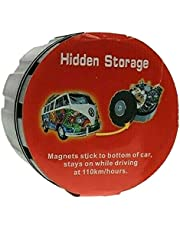 Circle Magnetic Hidden Storage Box Smell Proof 7cm W 5cm Sticks to Bottom of Car Stash Hide