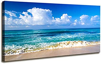 Framed canvas prints Thailand Railay beach colorful boat seascape large print
