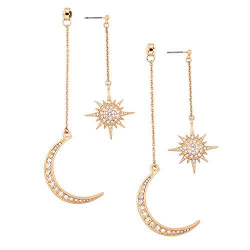 Meolin Star Moon Round Tassel Dangle Drop Earrings Stud Earrings For Women Jewelry