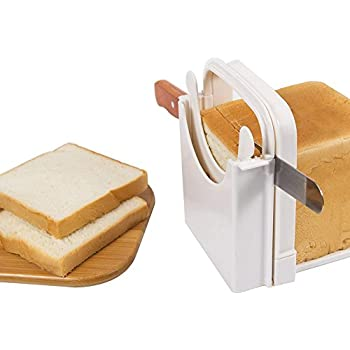 Amazon Com Bamboo Bread Slicer Cutting Guide Wood Bread