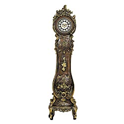 Hand Carved, painted Grandfather Floor Standing European Style Clock Home Decor