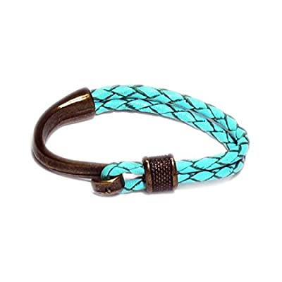AUTHENTIC HANDMADE Leather Bracelet, Men Women Wristbands Braided Bangle Craft Multi [SKU003050]