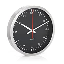 Era Stainless Steel & Black Wall Clock Size - 15.88-in.