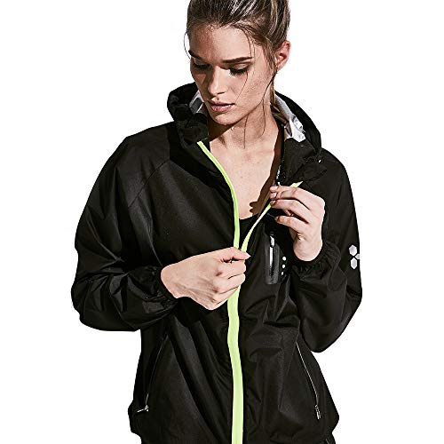 HOTSUIT Sauna Suit Weight Loss for Women Sweat Fitness Suits (Black,L)