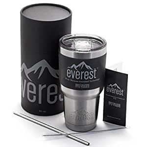 Tumbler 30 oz - Everest | Stainless Steel Double Wall Vacuum Insulated Travel Flask Mug - Non Slip Base