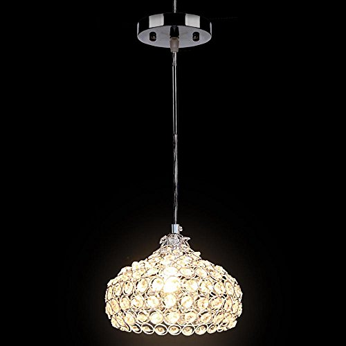 Light Cylindrical Pendant, Simplicity Crystal Ceiling chandelier lighting Light, For Living Room, Bedroom, Dining Room by ferty (Image #4)