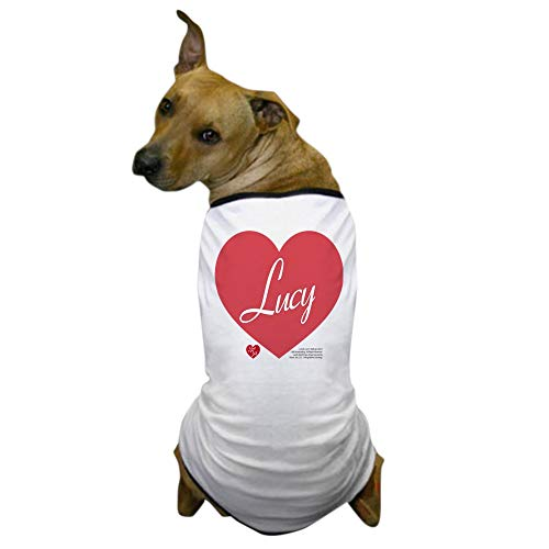 I Love Lucy Dog Costume (CafePress Hearts Lucy Dog T Shirt Dog T-Shirt, Pet Clothing, Funny Dog)