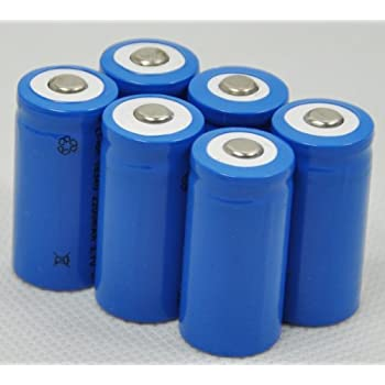 keep it 6 X 2000mah 3.7v Cr123a 123a 16340 Rechargeable Battery
