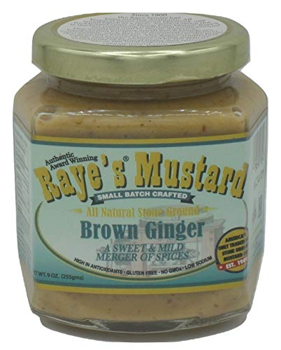 RAYES MUSTARD Mustard Old World Brown Ginger, 9 OZ