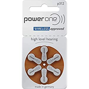 Size P312 Powerone Hearing Aid Batteries, 60 Count