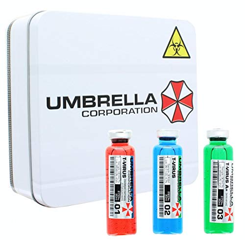 Resident Evil 3-Vial Vaccine Replica Set | Premium Quality Collectible Video Game & Movie Props | Perfect for Halloween Costumes, Cosplay, Themed Parties -