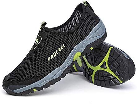 屋外の大きいサイズの水たまりの靴メッシュ通気性の男性のビーチ速乾性の水の靴水の靴(ダークブラウン) ポータブル (色 : Black, Size : US5.5)
