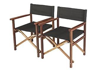 Luxe Chaise régie ANTRO d\'acajou exclusives (Lot de 2) acier ...