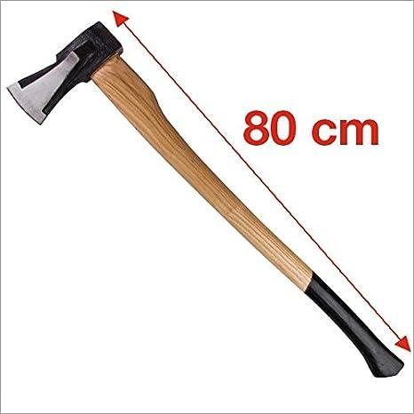 62267949b9 Ascia da spacco 2 kg 80 cm con manico in legno Eschen: Amazon.it ...