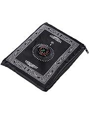 AniYY Bönmatta, bärbar muslimsk bönmatta med kompass islamisk bönematta filt saltmatta bönmattor islamisk resa