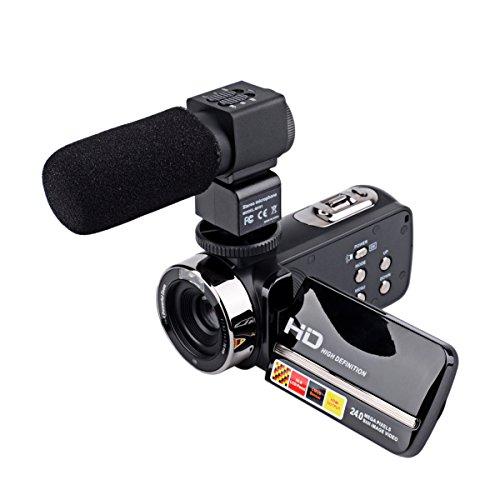 CkeyiN Digital Cámara Videocámara 24 Megapixels 16X Zoom Full HD 1920*1080P Digital Portable 270 Degree Rotation Touch...