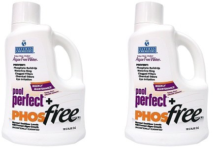 Natural Chemistry 05131 Pool Perfect+ Phosfree Pool Cleaner 3 Liter (2-Pack) (Pool Perfect Phos)