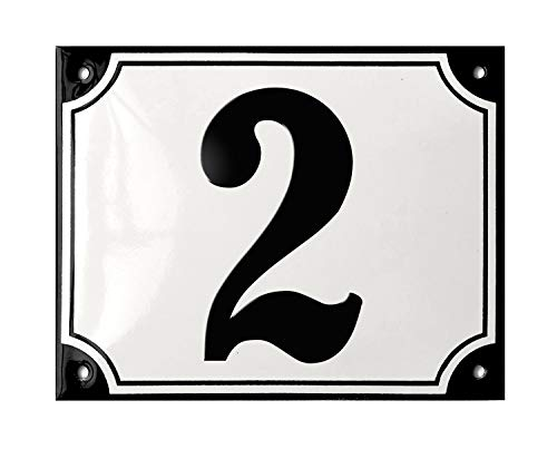 Ramsign Personalized House Number Sign. Porcelain Enamel. 5.5