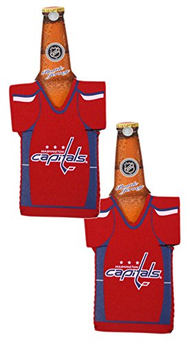 fan products of Official National Hockey League Fan Shop Authentic NHL 2-pack Team Jersey Insulated Bottle Cooler (Washington Capitals)