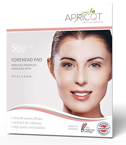 - NEW! ORIGINAL APRICOT beauty & healthcare Forehead Pad, medical grade Silicone care Forehead Pad with highly effective Hyaluron to smooth Wrinkles, reusable up to 30 times!
