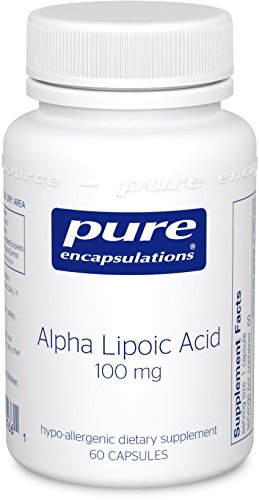 - Alpha Lipoic Acid 100 mg - Hypoallergenic Water- and Lipid-Soluble Antioxidant Supplement - 60 Capsules (Water Soluble Fiber)