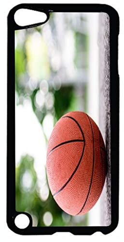 Black Case Cover for iPod 5 (5th Generation ONLY) Case Cover - Basketball on Ground Basketball Court (5 Court Case Basketball Ipod)