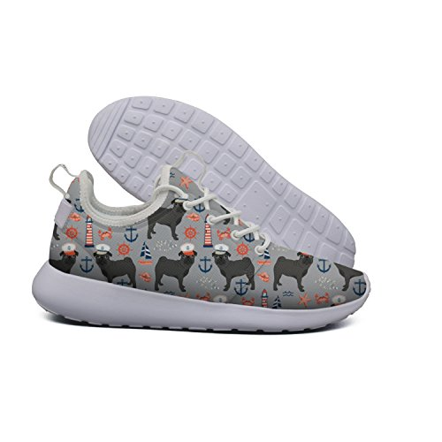 Captain Flex Shoes Pug Lightweight Womens Beach Nautical Cross Summer Trainer Mesh Fashion 2 pattern Dachshund dog Sports Hoohle Roshe TqZxU0S0