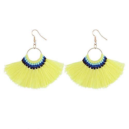 Cubic Pendant Jewelry Studs Ornaments Earrings Zirconia Love Earrings Earrings Ear Set Heart Silver Studs Tassels Long Yellow Women's qPZtWpUnw