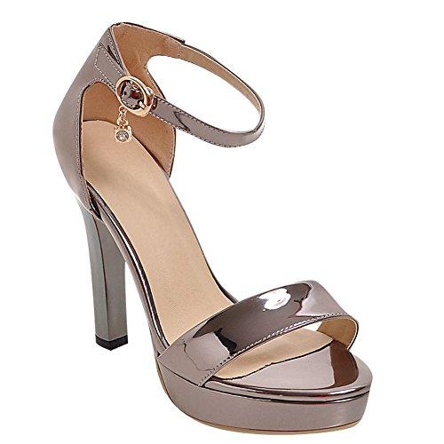 Sandale Metallo Élégante Misssasa Donna Taupe EvqRRO