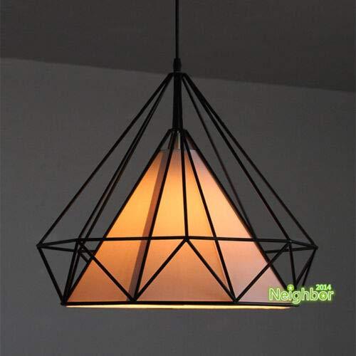 FidgetKute New Diamond Shape Metal Chandelier Birdcage Pendant Lamp Ceiling Light Lighting