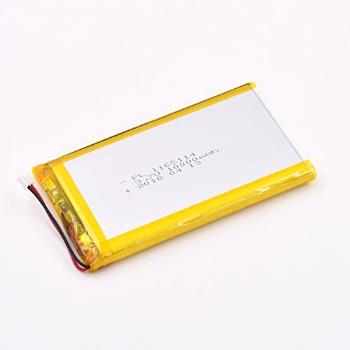 3.7V 10000mAh 1165114 Lipo battery Rechargeable Lithium Polymer ion Battery Pack with JST Connector