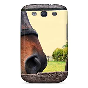 For Galaxy S3 Protector Case Horse Fence Phone Cover