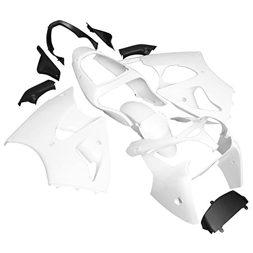 Kawasaki Zzr600 Specifications - Ambienceo Unpainted Drilled ABS Bodywork Fairing for KAWASAKI ZX6R 636 2000-2002 ZZR600 2005-2008