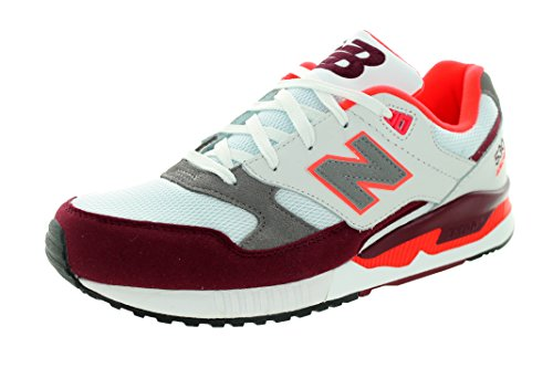 New Balance Men M530pib Fashion Sneaker, White/Grey, 11.5 D US Red, White & Bordeaux