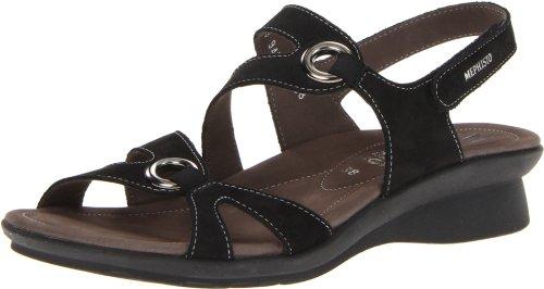 Womens Sandals Black Parfolia Nubuck Mephisto YtqdFdw