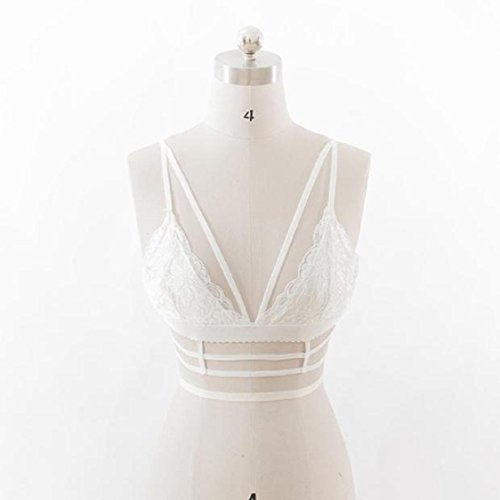 Vovotrade Frauen Lace Floral Bralette Bralet BH Bustier Crop Top Cami Ungepolsterte Behälter Weiß dsqOEU