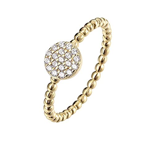 PAVOI 14K Gold Plated Cubic Zirconia Stacking Circle Ring