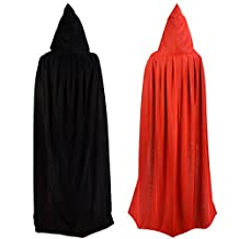 Double Face 55 Red Black Hooded Halloween Easter Christmas Cloak Goth Vampire Priate Cape