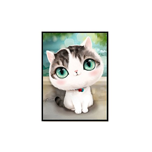 super1798 5D DIY Cartoon Cat Pattern Diamond Painting Embroidery Cross Stitch Wall Art Craft - 2#