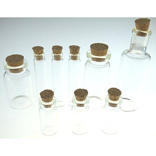 Advantus Idea-Ology tappata flaconi di vetro 9/Pkg-1,25