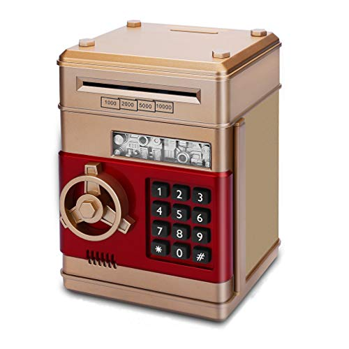 Adsoner Toy Piggy Bank, Electronic Password Safe Saving Box Gift for Kids