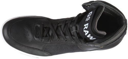 G-Star YARD Skirmish Hi GS52445 - Zapatillas de lona para hombre Negro (Schwarz/Black Lthr w/Denim)