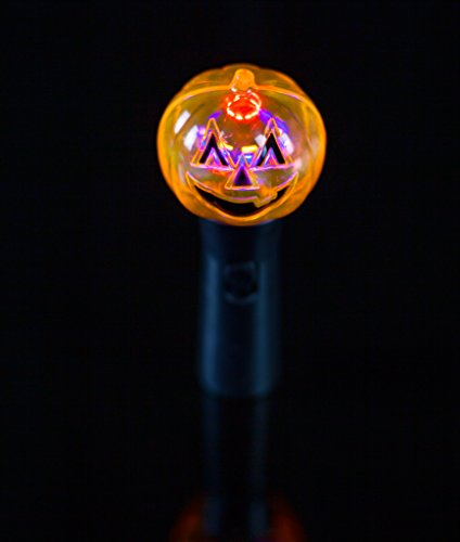 Light Up Flashing Pumpkin Spinner Wand With Music - Tons of fun for that Halloween party! ()