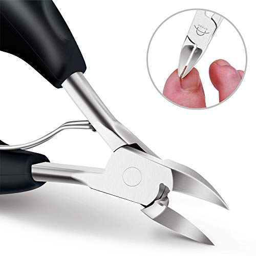 Large Toenail Clippers Professional for Thick Ingrown Nails Seniors,Heavy Duty Toe Nail Cutter Trimmer Scissors Nipper Paronychia Podiatrist Sharp Medical Finger Pedicure Tool With Nail File Lifter