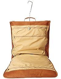 Piel Leather Tri-Fold Garment Bag, Saddle, One Size