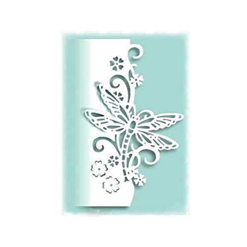 - Ireav 3D Dragonfly Stencil Metal Cutting Die Craft Greeting Card Making Decor Mold Album Book Decoration Embossing Stencil ï¼15.5 x 9.4 cmï¼