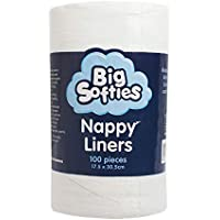 Big Softies Bamboo Nappy Liners, White, 100 Count